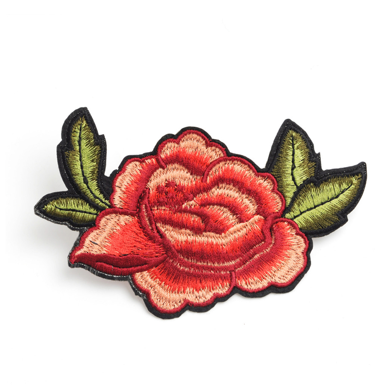 Custom diy patch flowers pattern design computerized embroidery for clothing