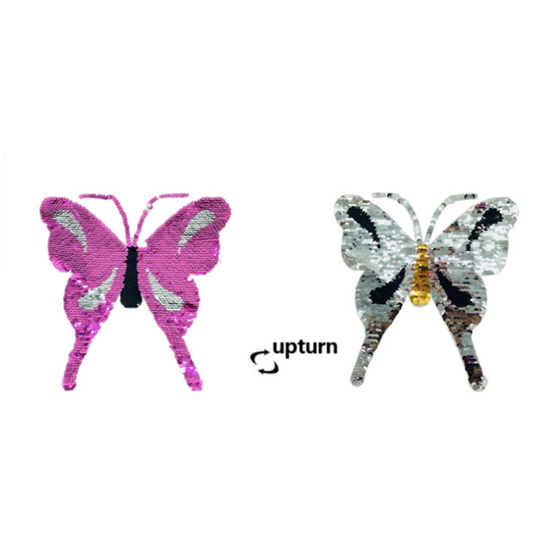 1879036c1 Custom t shirt sticker sequin patch insect butterfly pattern reversible  bead embroidery for clothing