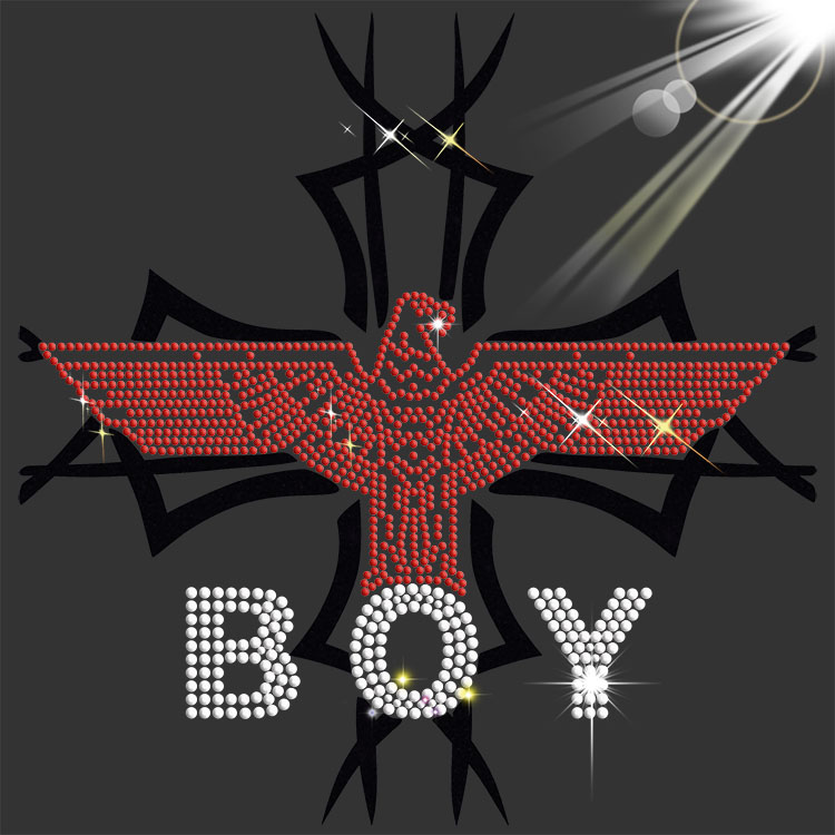 iron on boylondon rhinestone motif for man clothes